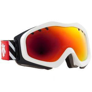 Gogle Majesty Patrol 2014/15 white frame/red ruby mirror lens tint