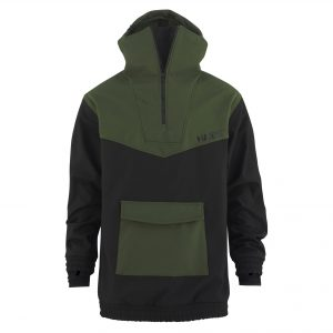 Softshell Anorak army green