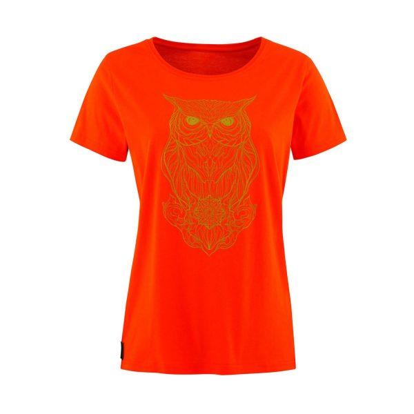 Lady T-shirt Owl orange