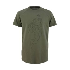 T-shirt Wolf army green